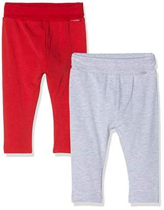 Playshoes Baby Leggings Rot-Grau im 2er Pack,(Size: 50/56) (Pack of 2)