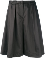 Jil Sander Navy pleated wide-leg shorts - women - Cotton/Acetate/Cupro - 38
