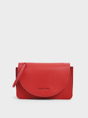 Charles & Keith Acrylic Handle Wristlet Clutch