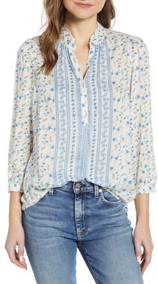 Lucky Brand Megan Floral Popover Shirt