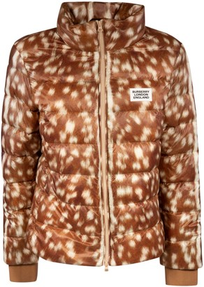 Burberry Chest Logo Patch Padded Jacket