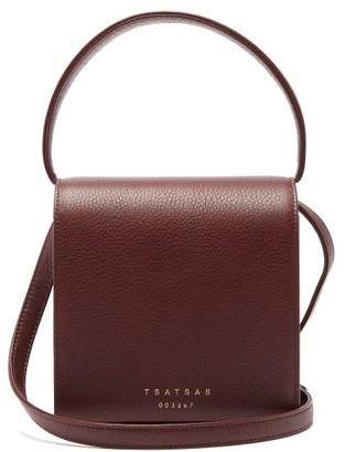 Tsatsas Malva 2 Grained-leather Cross-body Bag - Burgundy