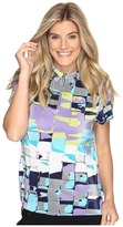Jamie Sadock - Digi Box Print Short Sleeve Top Women's Clothing