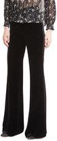 Veronica Beard Ramsey Wide-Leg High-Waist Velvet Tux Pants