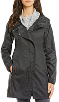 The North Face Gymset Water-Repellent Taffeta Hooded Solid Trench Jacket