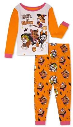 Paw Patrol Toddler Girls Halloween Snug Fit Cotton Long Sleeve Pajamas, 2-Piece Set (2T-5T)