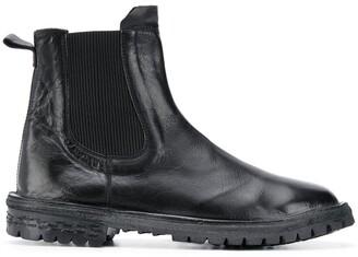 Moma Buffalo Leather Ankle Boots