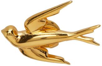 McQ Gold Swallow Earrings