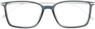 HUGO BOSS Polished-Effect Rectangle-Frame Glasses