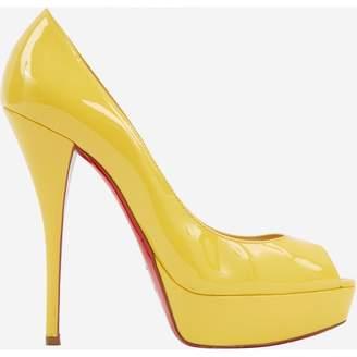 Christian Louboutin Lady Peep Yellow Patent leather Heels