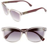 Fendi Women's 55Mm Retro Sunglasses - Grey