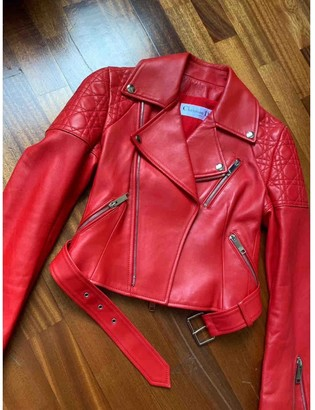 Christian Dior Red Leather Jackets