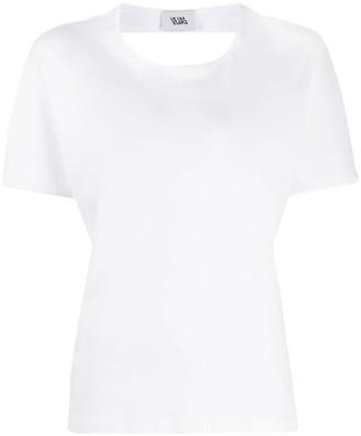 Vejas open-back cotton T-shirt