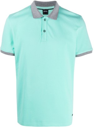 HUGO BOSS Two-Tone Polo Shirt
