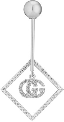 Gucci GG Running 18k single earring with diamonds