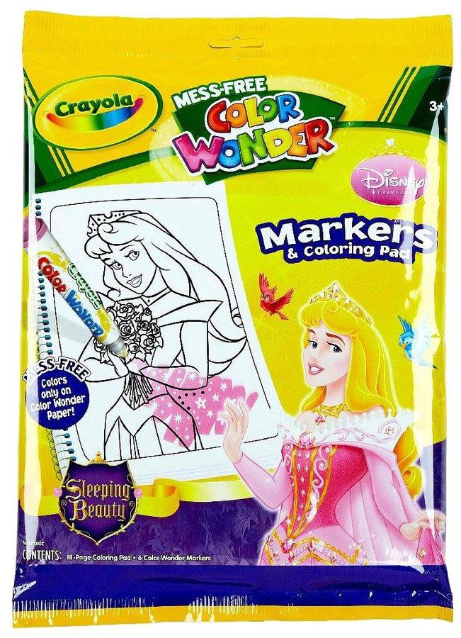 Crayola Color Wonder Coloring Book & Markers - Disney Princesses