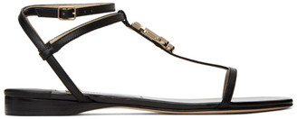 Jimmy Choo Black Patent Alodie Sandals