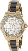 Akribos XXIV Women's AK534YG Swiss Quartz Diamond Ceramic Link Bracelet Watch