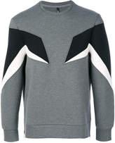 Neil Barrett contrast panel sweatshirt