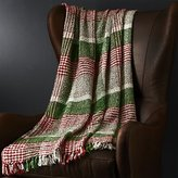 Crate & Barrel Cratchit Red/Green Plaid Throw
