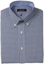 Nautica Men's Check Button-Down Collar Dress Shirt