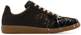 Maison Margiela Black Paint Drop Replica Sneakers