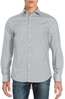 Perry Ellis Dotted Cotton Sportshirt
