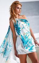 Terani Couture H1250 One Shoulder Floral Cocktail Dress