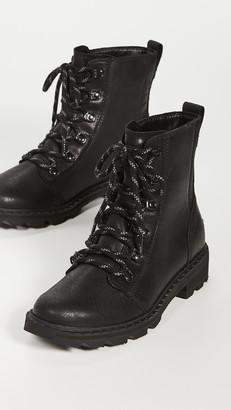 Sorel Lennox Lace Rouge Combat Boots