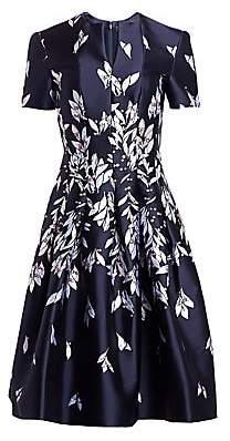 ebe11356 Oscar de la Renta Women's Floral Jacquard A-Line Cocktail Dress