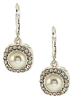 Cezanne Square Pave Drop Earrings
