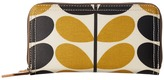 Orla Kiely Stem Check Print Big Zip Wallet Wallet Handbags
