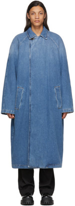 Balenciaga Indigo Denim Big Fit Car Coat