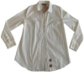 81 Hours 81hours White Cotton Top for Women