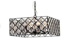 "Home Accessories Tafari 19"" 4-Light Indoor Pendant Lamp with Light Kit"