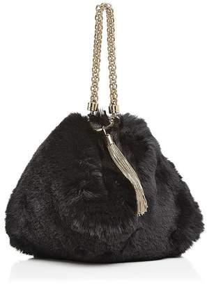 Jimmy Choo Callie Faux-Fur Mini Bag