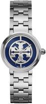 Tory Burch Women's Swiss Reva Silver-Tone Stainless Steel Bracelet Watch 28mm TRB4010