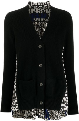Sacai Pleat-Back Cardigan