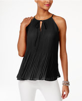 INC International Concepts Petite Pleated Halter Top, Created for Macy's