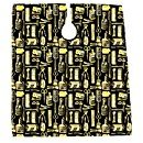 Betty Dain Vintage Print Barber Cutting Cape, Gold