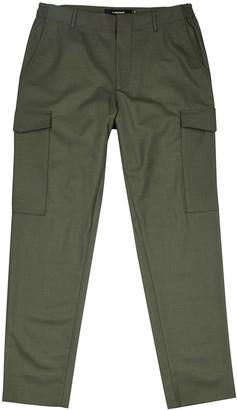J. Lindeberg Sasha army green cargo trousers