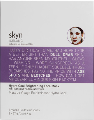 Skyn Iceland Hydro Cool Brightening Face Sheet Mask X 3