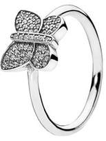 Pandora Silver Cz Butterfly Ring.