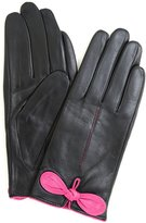 Bushga Ladies Butter Soft Preminum Leather Glove with classic double stitch & bow design