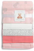 5pk Kitty Receiving Baby Blanket Set