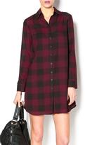 BB Dakota Sheer Plaid Shirtdress