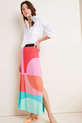 Aldomartins Arely Colorblocked Sweater Maxi Skirt