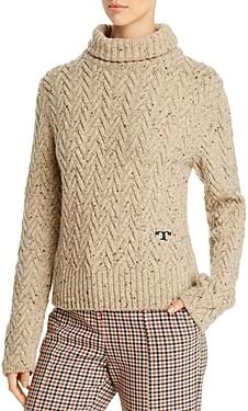 Tory Burch Merino Wool Chunky Turtleneck Sweater