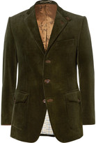 Cordings Green Ripley Slim-Fit Corduroy Blazer