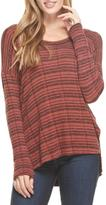 Lush Brick Reverse-Knit Top